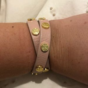 light pink tory burch wrap bracelet